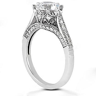 DIAMONDS 2.29 ct. white gold anniversary F VVS1 ring