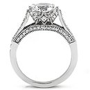 DIAMONDS 2.29 ct. white gold anniversary F VVS1 ring