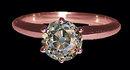 Rose gold diamond engagement ring 2 carat old mine cut