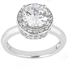 Big diamond engagement ring F VVS1 diamonds 2.61 ct.