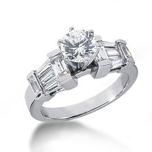 3.50 carats diamonds engagement ring white gold new
