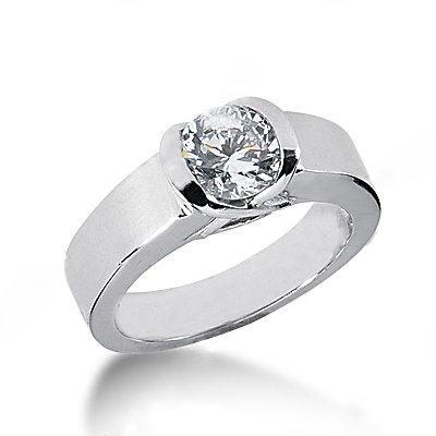 New solitaire diamond 2.01 carat wedding ring jewelry