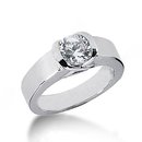 New solitaire diamond 2.01 carat wedding ring jewelry