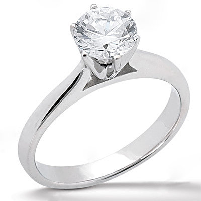 2.01 Ct. diamond F VS1 solitaire engagement ring gold