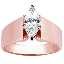 Rose gold marquise diamond engagement ring 2 carats