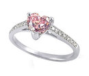 2.86 ct. heart shape pink diamonds pave engagement ring