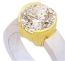 3 carat diamond ring yellow gold jewelry solitaire NEW