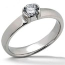 1.51 ct. Solitaire platinum ring E VVS1 diamonds new