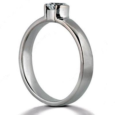 1.51 ct. Solitaire platinum ring E VVS1 diamonds new