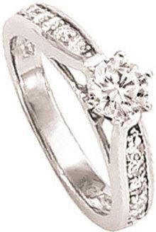 3.21 carat G VS1/SI1 DIAMOND SOLITAIRE RING PLATINUM
