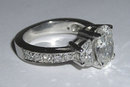3.01 carats PLATINUM OVAL DIAMOND engagement ring
