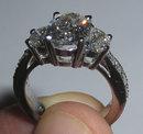 3.01 carats PLATINUM OVAL DIAMOND engagement ring