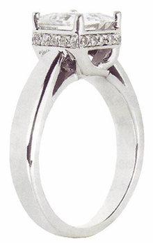 2.51 carats princess cut diamond engagement ring new