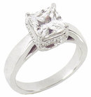 2.51 carats princess cut diamond engagement ring new