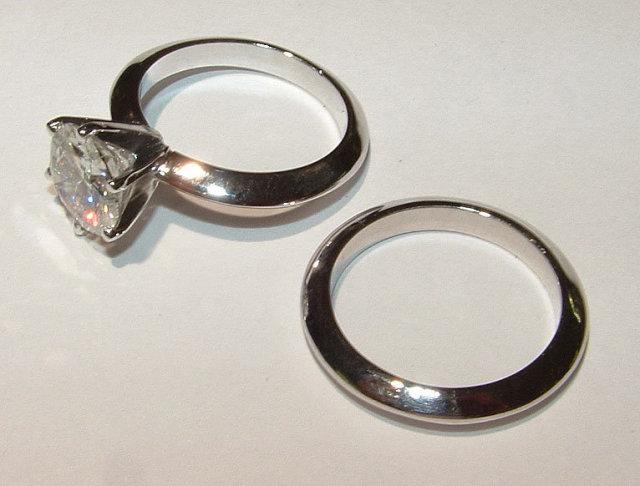 2.0 ct G VS1 DIAMOND solitaire engagement ring platinum
