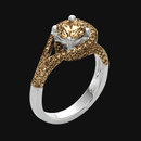 4 carat champagne brown diamonds engagement ring