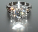 4.01 carats DIAMOND engagement ring large 2 carat