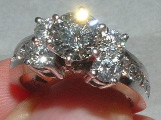 4.01 carats DIAMOND engagement ring large 2 carat