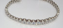 14.75 carats DIAMOND TENNIS BRACELET VS graduated bezel