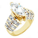 Yellow gold diamonds 3.75 carat engagement ring new