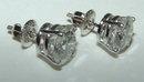 6 carat diamond F SI1 earrings diamond stud ear ring