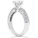 3.50 carat diamonds anniversary ring micro pave ring