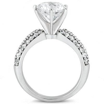 3.50 carat diamonds anniversary ring micro pave ring