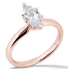 2.51 ct. diamond marquise cut solitaire ring pink gold