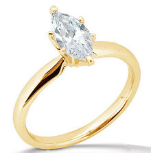 diamond engagment solitaire ring yellow gold 2.51 carat