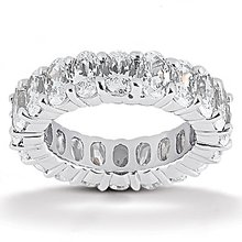 Oval cut diamond eternity wedding band 9.5 Ct. Diamonds