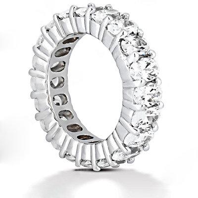 Oval cut diamond eternity wedding band 9.5 Ct. Diamonds