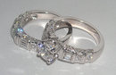 5.01 carats diamond bridal jewelry set ring and band