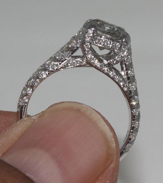 4 carat diamonds micro pave ring anniversary ring gold