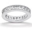 10.50 Ct. Diamonds eternity wedding band white gold