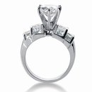 3.75 carat diamonds anniversary ring F VVS1 diamonds