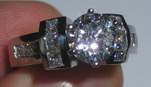 4.41 carats PLATINUM diamond ring real genuine diamonds