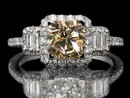 Brown diamond ring dark champagne 5.51 ct. diamond ring