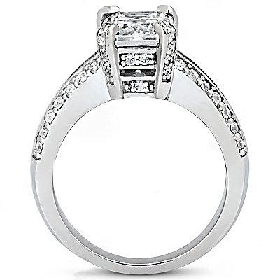 2.6 Ct. Diamonds engagement ring F VS1 big diamond ring