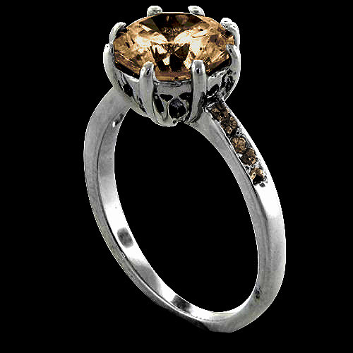 Champagne diamonds anniversary ring 3 ct. diamonds ring