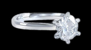 Big diamond ring 2.51 ct. solitaire engagment ring gold