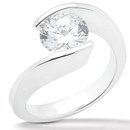 2.51 carat F VS1 diamond solitaire engagement ring gold