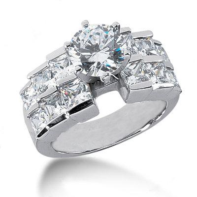 5.25 carat diamonds engagement ring real big diamonds