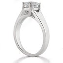 2 ct. E VVS1 Diamond ring solitaire princess cut gold