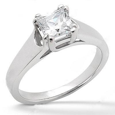 2 ct. E VVS1 Diamond ring solitaire princess cut gold