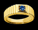 0.65 carat blue diamond ring men's yellow gold ring new