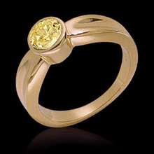 Yellow canary diamond solitaire engagement ring 1.01 ct