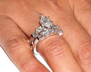 4.01 carats MARQUISE diamond ring and band set jewelry