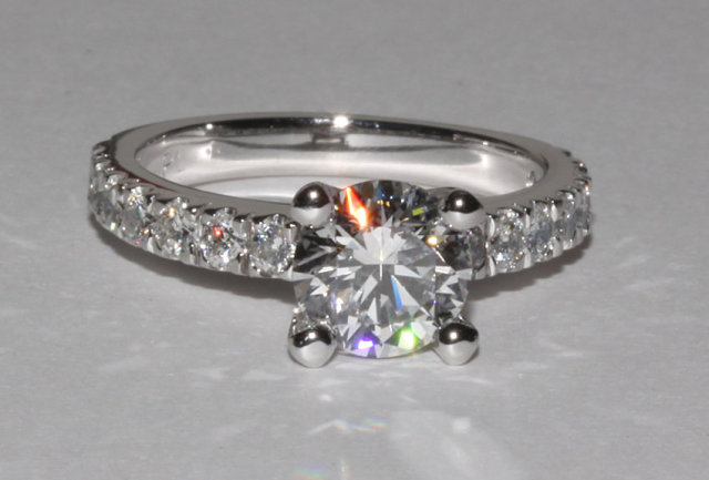 2.76 Ct. tiffany novo inspired diamond engagement ring
