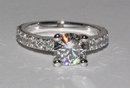 2.76 Ct. tiffany novo inspired diamond engagement ring
