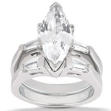 Marquise cut diamond ringengagement set 3 ct. diamonds